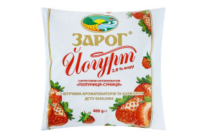 Йогурт 2.8% Клубника-Земляника ЗароГ м/у 400г