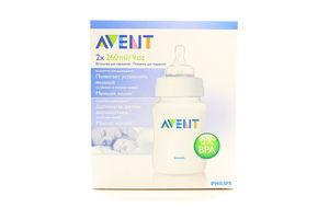 Пляшечка Avent для годування 2х260мл