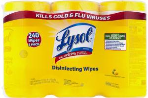 Lysol Disinfecting Wipes Lemon & Lime Blossom -3 PK