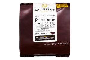 Шоколад 70.5% Dark callets Callebaut м/у 400г