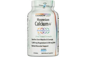 Rainbow Light Magnesium Calcium+ Tablets - 90 CT