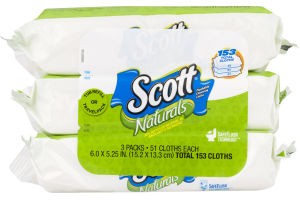 Scott Naturals Flushable Cleansing Cloths - 153 CT