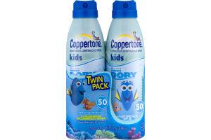 Coppertone Sunscreen Continuous Spray Kids SPF 50 - 2 CT