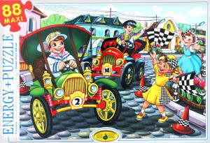 Пазли для дітей від 3-х років Гонщики Київська Фабрика Іграшок 88ел