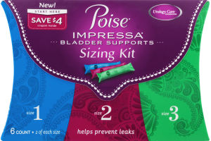 Poise Impressa Bladder Supports Sizing Kit Size 1 / Size 2 / Size 3 - 6 CT