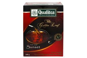 Чай черный крупнолистовой Sunset Qualitea к/у 100г