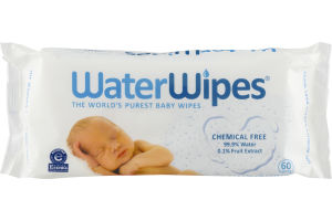 WaterWipes Chemical Free Baby Wipes - 60 CT