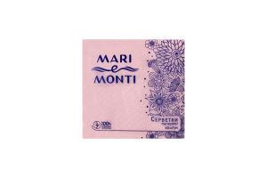 MARI e MONTI серветки паперові одношарові 40шт рожеві