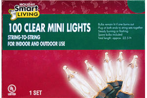 Smart Living Holiday 100 Clear Mini Lights