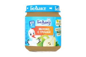 Пюре з яблук і груш для дитячого харчування 100г., Беллакт