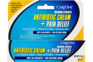 CareOne Antibiotic Cream + Pain Relief Maximum Strength