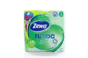 Туалетная бумага 2-x слойная с ароматом яблока Плюс Zewa 4шт