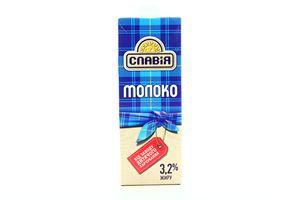 Молоко 3.2% ультрапастеризованное Славия т/п 950г