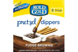 Rold Gold Pretzel Dippers Fudge Brownie - 5 CT