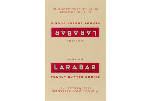 Larabar The Original Fruit & Nut Food Bars Peanut Butter Cookie - 16 CT
