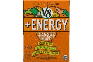 V8 + ENERGY Orange Pineapple - 4 CT