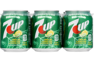 7-Up Mini Cans - 6 PK