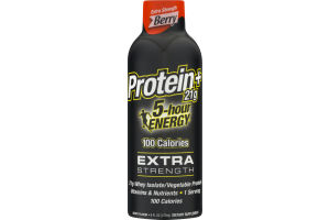 5-Hour Energy Protein + 21g Extra Strength Dietary Supplement Berry
