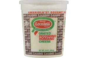 Genuine Locatelli Brand Grated Pecorino Romano Cheese