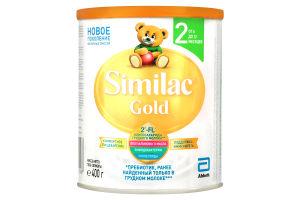 Смесь адаптированная сухая молочная для детей от 6 до 12мес Gold 2 Similac ж/б 400г