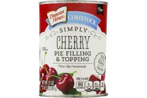 Duncan Hines Comstock Pie Filling & Topping Simply Cherry