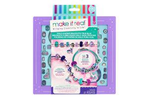 Набір для дітей від 8років для створення браслетів №MR1721 Синє сяйво Make It Real 1шт