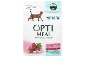 Сухий корм для котів з високим вмістом телятини Optimeal 0,2 кг