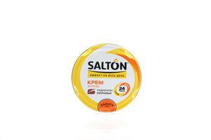 Крем Salton для взуття з гладкої шкіри коричневий 50мл