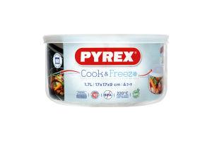 Форма Pyrex круглая крышка 1,7л