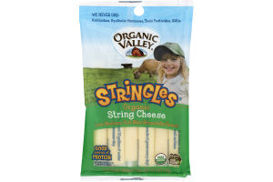 Organic Valley Stringles Organic String Cheese Mozzarella - 6 CT