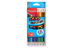 Олівці кольорові Color Peps Duo Maped 12шт/картон 829600