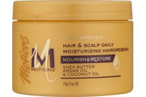 Motions Hair & Scalp Daily Moisturizing Hairdressing Shea Butter, Argan Oil & Coconut Oil