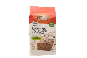 Смесь рисово-гречневая для домашней выпечки World's Rice м/у 700г