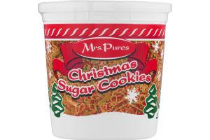 Mrs. Pures Christmas Sugar Cookies