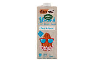 Молоко рослинне органічне з мигдалю Ecomil т/п 1л