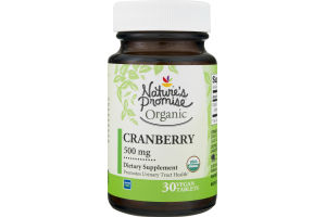 Nature's Promise 500mg Cranberry - 30 CT