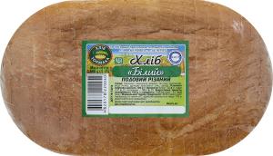 Хліб подовий нарізний Білий Хліб Токмака м/у 600г