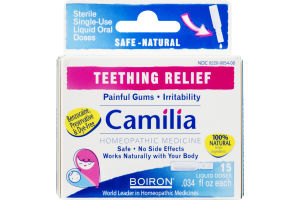 Boiron Camilia Teething Relief Liquid Doses - 15 CT