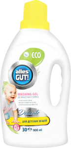 ECO Гель для прання дитячого одягу ТМ Alles GUT! 900 мл