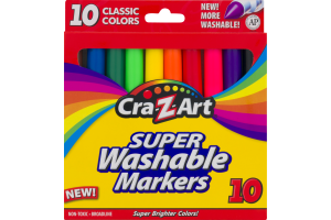 Cra-Z-Art Super Washable Markers Classic Colors - 10 CT