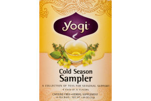Yogi Cold Season Sampler Tea Bags - 16 CT
