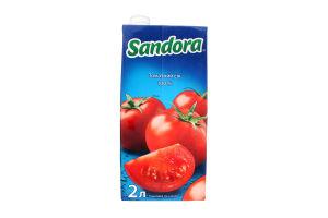 Сік томатний з сіллю Sandora т/п 2л
