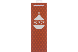 True Orange Holiday Plaid Wine Bag