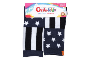 Шкарпетки дитячі Conte kids Веселі ніжки №17С-10СП 20 темно-синій
