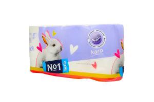 Туалетний папір з целюлози Karo №1 Bella 8шт