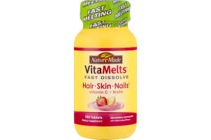 Nature Made VitaMelts Fast Dissolve Hair, Skin and Nails Strawberry Lemonade - 100 CT