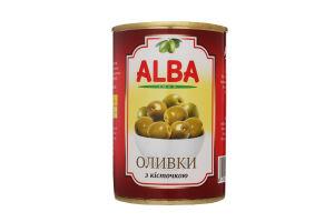 Оливки с косточкой Alba Food ж/б 300мл