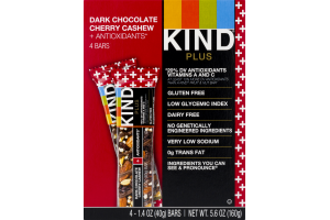KIND Plus Bars Dark Chocolate Cherry Cashew + Antioxidants - 4 CT