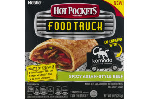 Hot Pockets Food Truck Sandwiches Spicy Asian- Style Beef - 2 CT