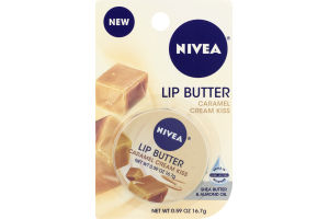 Nivea Caramel Cream Kiss Lip Butter Shea Butter & Almond Oil